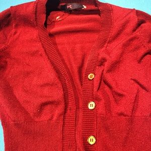 Tops - Red cardigan